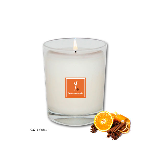 Bougie parfumée naturelle Orange cannelle Yssia